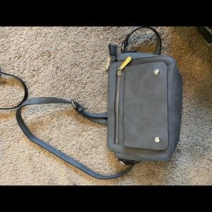 Grey purse by charming Charlie's
